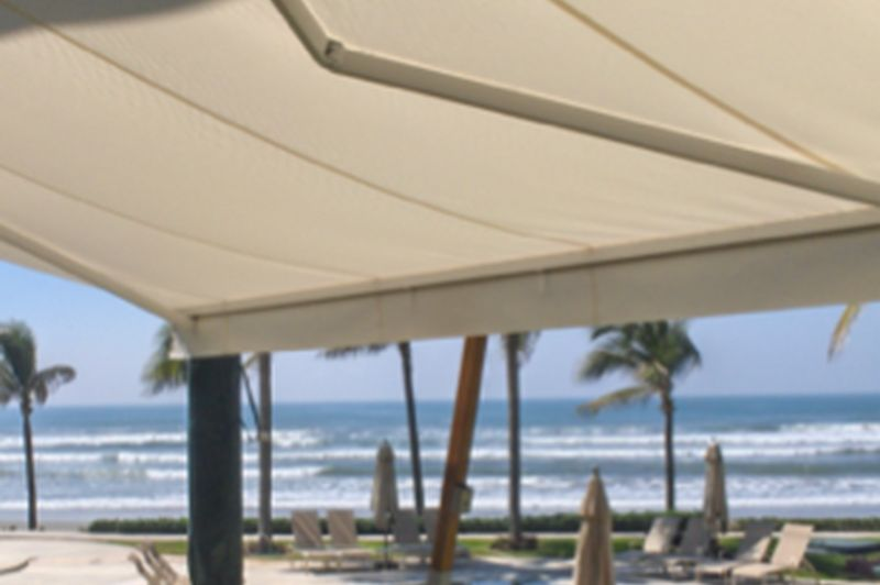 Curtain Transformations - Folding Arm Awnings